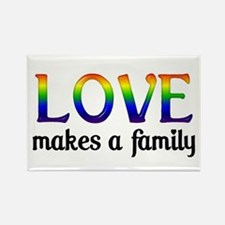 Love Makes A Family Rectangle Magnet