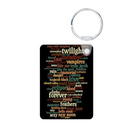 Colorful Twilight Aluminum Photo Keychain