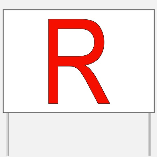 Team Rocket Yard Sign