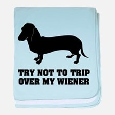 Try not to trip over my wiener baby blanket