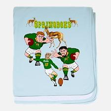 Springboks Rugby Team baby blanket