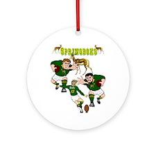 Springboks Rugby Team Ornament (Round)