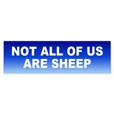not sheep... Bumper Bumper Sticker
