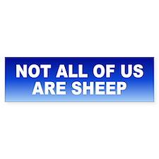not sheep... Bumper Bumper Stickers