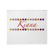 Kiana with Flowers Throw Blanket