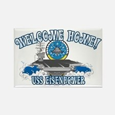 Welcome Eisenhower Rectangle Magnet