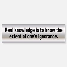 real knowledge... Bumper Bumper Bumper Sticker