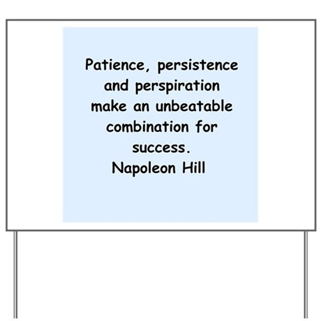 Napolean Hill quotes Yard Sign
