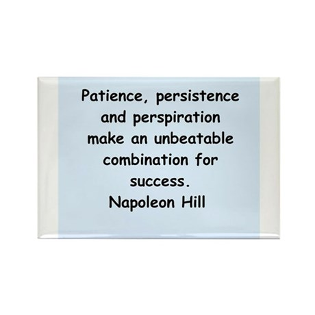 Napolean Hill quotes Rectangle Magnet (10 pack)