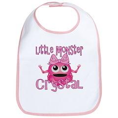 Little Monster Crystal Bib