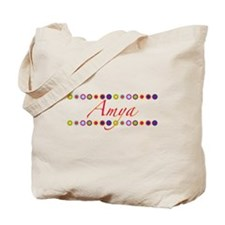 Amya with Flowers Tote Bag
