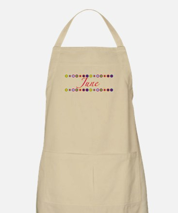June with Flowers Apron