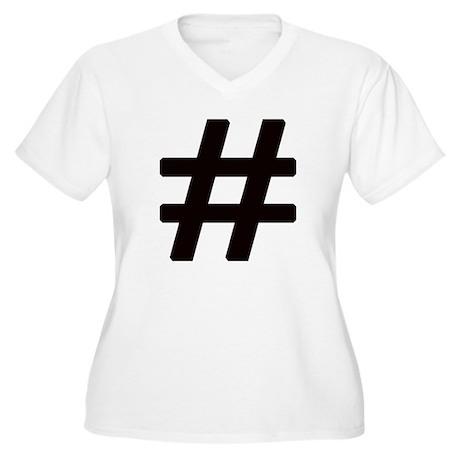 Hashtag Women's Plus Size V-Neck T-Shirt