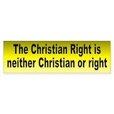 christian right... Bumper Bumper Sticker
