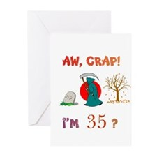 AW, CRAP! I'M 35? Gift Greeting Cards (Pk of 20)