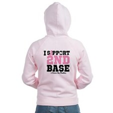 I Support 2nd Base Zip Hoodie