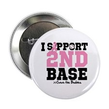"""I Support 2nd Base 2.25"""" Button"""