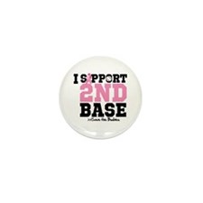 I Support 2nd Base Mini Button (10 pack)