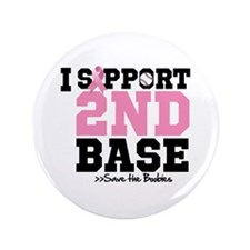 "I Support 2nd Base 3.5"" Button (100 pack)"