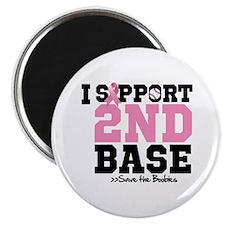 """I Support 2nd Base 2.25"""" Magnet (100 pack)"""