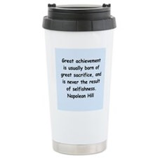 Napolean Hill quotes Travel Mug