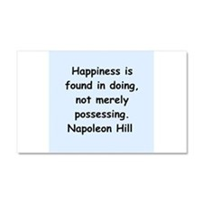 Napolean Hill quotes Car Magnet 20 x 12