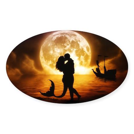 Unspoken Mermaid Sticker (Oval)