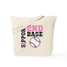 Breast Cancer 2nd Base Tote Bag
