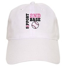 Breast Cancer 2nd Base Baseball Cap