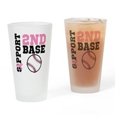 Breast Cancer 2nd Base Drinking Glass