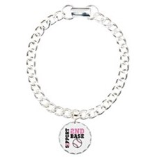 Breast Cancer 2nd Base Charm Bracelet, One Charm
