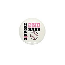 Breast Cancer 2nd Base Mini Button (10 pack)