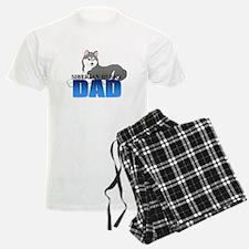 Gray Siberian Husky Dad Pajamas