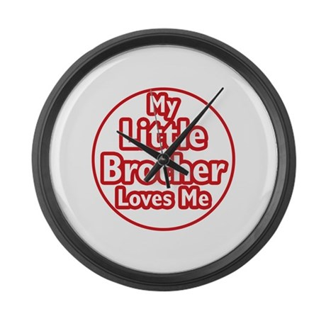 Little Brother Loves Me Large Wall Clock