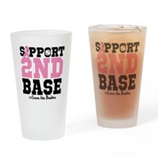 Save 2nd Base Drinking Glass