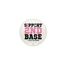 Save 2nd Base Mini Button (10 pack)