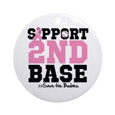 Save 2nd Base Ornament (Round)
