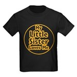 Little Sister Loves Me Kids Dark T-Shirt