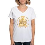 Little Sister Loves Me Women's V-Neck T-Shirt