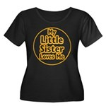 Little Sister Loves Me Women's Plus Size Scoop Nec