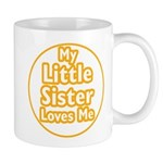Little Sister Loves Me Mug