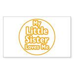 Little Sister Loves Me Sticker (Rectangle 50 pk)