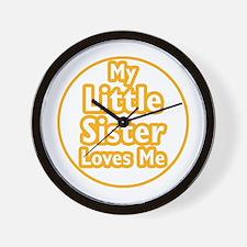 Little Sister Loves Me Wall Clock