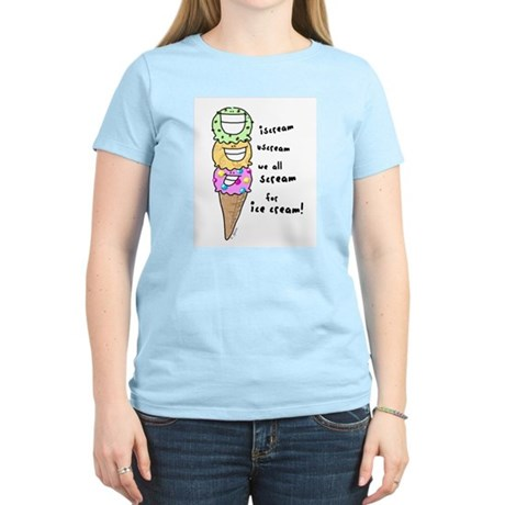 Triple Cone Ice Cream Women's Pink T-Shirt