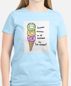 Triple Cone Ice Cream Women's Pink T-Shirt