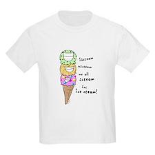 Triple Cone Ice Cream Kids T-Shirt