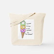 Triple Cone Ice Cream Tote Bag