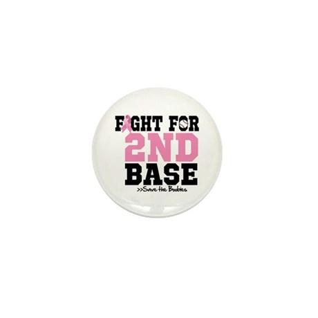 Fight For 2nd Base Mini Button (100 pack)