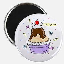 Hot Fudge Sundae Ice Cream Magnet