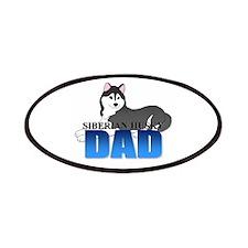 Black Siberian Husky Dad Patches